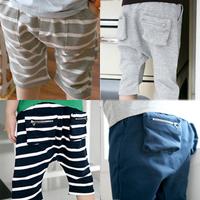Zipper three-dimensional pocket knee-length pants trousers 2012 summer boys big boy baby children's clothing 4722