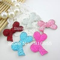 Free shipping 100pcs/lot  30*18mm ribbon bow shape flatback resin rhinestone for DIY decoration(many colors to choose)
