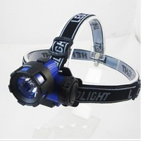 Outdoor products, night led camping headlight, glare 3w fishing lights switch,FREE SHIPPING
