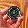 Free shipping,Outdoor products lifebelts stainless steel metal shell portable compass lens compass