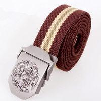 Male buckle casual denim canvas belt red belt all-match strap accessories