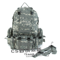 Free shipping,Outdoor large capacity backpack tactical double-shoulder backpack 50l mountaineering bag travel bag