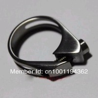 1pc Titanium Bicycle Seat Saddle Post Clamp Lock 31.8MM Dia. For Mountain Road Bike 27.2MM Post
