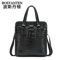Bosi Dan Benton / noble crocodile pattern handbag / men's leather messenger bag / documents male package B10482