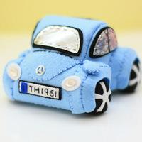Material kit diy handmade fabric mini home sports car beetle water blue free shipping