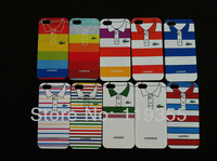 20 pcs New Shirt pattern Style Hard Back Cover Case For Apple Iphone 5 5G With Free Shipping -5G206