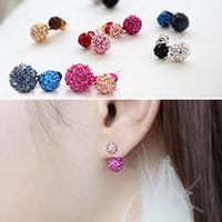 Bea earring 925 needles full rhinestone round ball stud earring ergb013 i12