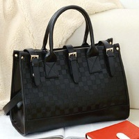 Free shipping,2013 female fashion big bag dimond plaid cross-body handbag one shoulder women's handbag .