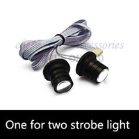 Car Strobe Lights IX35 LED Flash Warning Police Firemen Auto Fog Light RH-808 strobe lights for cars white in free shipping