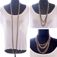 Multi-layer daisychao ultra long tassel color block chain random style all-match ultra long necklace