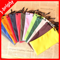 I-bright Waterproof leather eyeglasses sunglasses pouch soft eyeglasses bag glasses case multi-color available free shipping