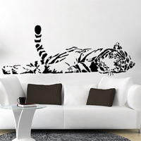 Free Shipping Wall stickers Home decor SIze:640mm*1650mm PVC Vinyl paster Removable Art Mural tiger l-127