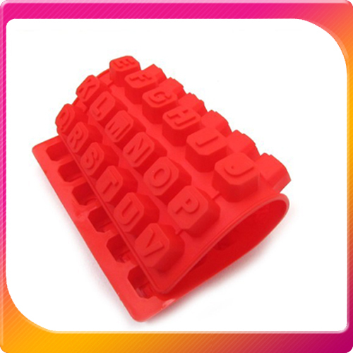 (Free Shipping CPAM) 10PCS/LOT Silicone 48 Cavity Alphabet Letter Soap Mold Christmas Chocolate Jelly Candy Cube Mould(China (Mainland))