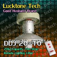 High Bay Lighting Lifter Remote-controlled Lighting Hoist Light Lift DDJ20-10 (20kg Capability 10m drop 110--240V) Free Shipping