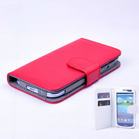 Free shipping , for New Arrival Top Quality Wallet Style PU Leather Case For samsung i9300