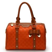Handbag bag candy color bow nylon bag female bags