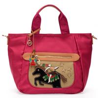 Women's handbag casual handbag messenger bag circus candy color nylon bags