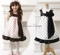 Hot Sale girl dress kids dresses Sling Princess Dress - Princess spell color little dress Free Shipping
