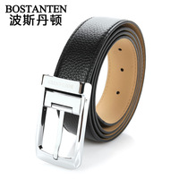 Business casual cowhide male strap pin buckle single-circle belt b4010