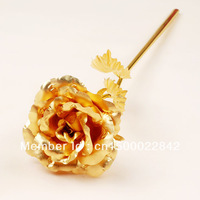 valentine's day gift 24k pure gold foil gold rose - full roses Sweet gift for your lover forever love golden rose golden roses