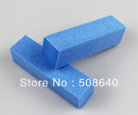 Free Shipping  Blue Buffer Block Acrylic Nail Art Care Tips Sanding Files Tool 100 pcs 4 Ways Shine High Quality Wholesale 470