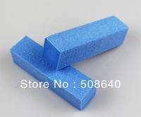 Free Shipping  Blue Buffer Block Acrylic Nail Art Care Tips Sanding Files Tool 100 pcs 4 Ways Shine High Quality Wholesale 470