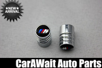 Free shipping new style(boxed) 4PCS /1Set BMW M3 M5 M6 Round Shape Car Tire Valve Stem Cap stainless Replacement body Parts
