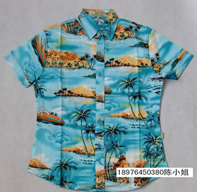 Free shipping Hainan island service hainan shirt dress beach work clothes casual shirt(China (Mainland))