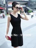 FREE SHIPPIN 2013 NEW Han edition dress v-neck render of cultivate one's morality joker fashion dress
