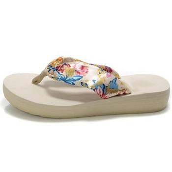 Summer Korean women dragged Ms. bohemian beach slippers folder drag beach sandals slope with heavy-bottomed slippers word