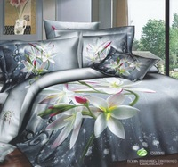 FREE SHIPPING Rustic personalized 3d 100% bedding cotton four piece set activity lily