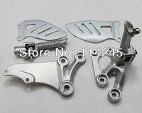 Motorcycle parts Silver Front Rider Foot Pegs Bracket For Suzuki GSXR600 GSXR750 2006 2007 2008 2009 2010