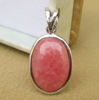Aqua ice neon exquisite natural rhodochrosite pendant bordered 638