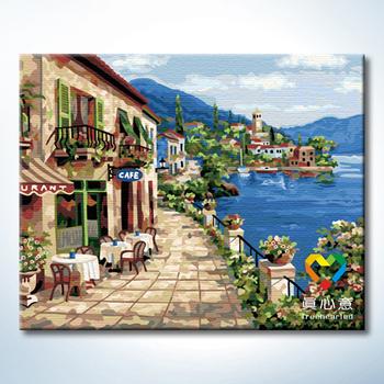 Colored drawing diy digital oil painting digital oil painting - 40 50