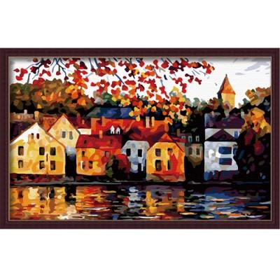 Diy digital oil painting digital painting 50 80cm belt in frame