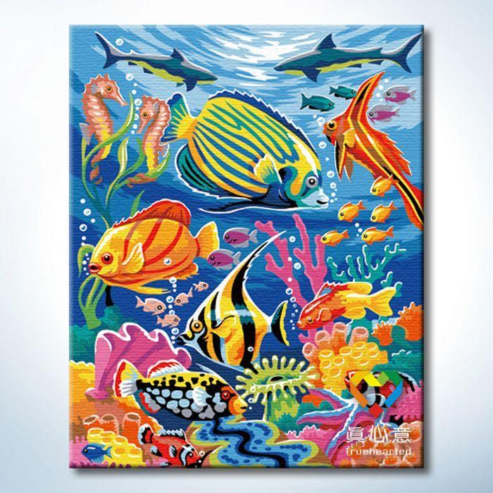 Cherry colored drawing diy digital oil painting digital painting 40 50