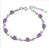 Bracelet 925 silver female qau tadpole amethyst lovers bracelet gift