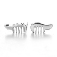 925 pure silver stud earring comb stud earring accessories silver jewelry