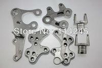 Motorcycle parts Silver Front Rider Foot Pegs Bracket For Suzuki GSXR1000 2005 2006 2007 2008 2009 2010 2011