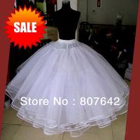 Free shipping Hot sale NO Hoop 6 layers Wedding Bridal Gown Dress Petticoat Underskirt Crinoline Wedding Accessories Sky-P016