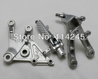Motorcycle parts Silver Front Rider Foot Pegs Bracket For Honda CBR600RR 2003 2004 2005 2006