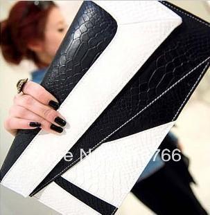 Fashion Vintage Leather Women Shoulder Handbag 2013 New Designer Day Clutch Envelope Evening Bag Free Shipping Wholesal/Retail