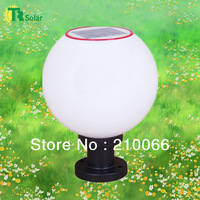 Outdoor Chapiter Lighting Landscape Globular Solar LED Lamp(1W Solar Panel) White & Yellow Color High Quality
