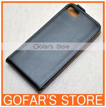 Real Genuine Vertical Leather Case for Blackberry Z10 BB10 Dev Alpha B 100pcs/Lot