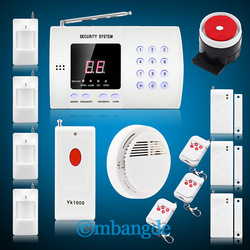2013Hot& new free shipping alarm security system +4 Motion Detectors+3 Door/Window Sensors+3 Remote Controls+1Panic Button+smoke(China (Mainland))