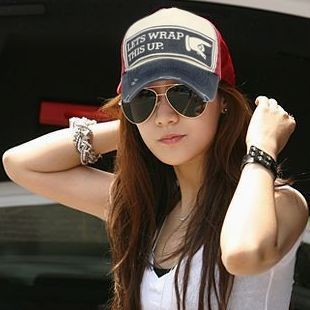 Summer sun-shading baseball cap hat women's lovers cap sun hat(China (Mainland))