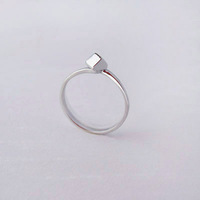 Silver handmade finger ring trigonometric three-dimensional geometry 925 pure silver women's ring individuality brief fresh