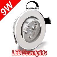 Promotion!!! 3w LED down light DIMMABLE cool/ warm white 30/60 degree angle AC110V/230V ceilinglight 2yrs warranty