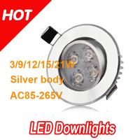 20pcs 3w 4W LED downlight cool/ warm white 255LM Led Ceiling Down Lights Energy Saving Led Lamp  Free by FEDEX / DHL