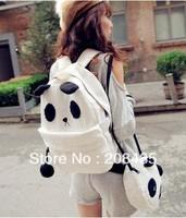 Women girl Cartoon bear panda bag canvas Backpack Shoulder School bags big + small free shipping